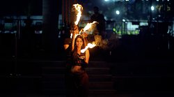 Live performers. Fire.