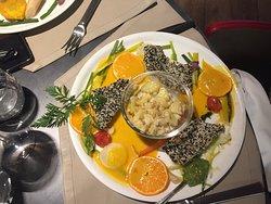 Beautifully presented fish platter