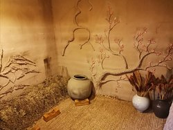 Traditional Korea yellow mud sauna room