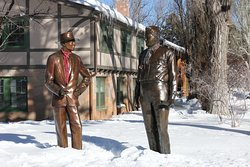 Dr. J. Robert Oppenheimer and General Leslie Statues