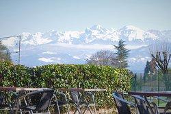 la vue sur Belledonne depuis la terrasse Panorama incroyable