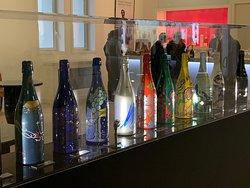 Special commemorative art bottles at Tattinger Champagne House