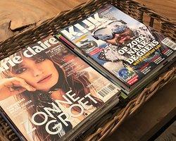 Er zijn tijdschriften beschikbaar