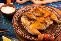 Цыпленок Тапака-настоящее грузинское блюдо, приготовленное на гриле