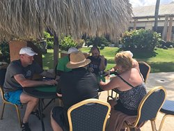 Poolside Texas hold'em tournament