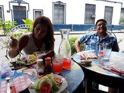 Almorzando en familia!