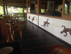 Outside dinning area, where we eat all of our meals
