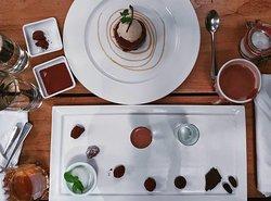 The 9-step tasting menu. Chocolate mousse. And cocoa tea!