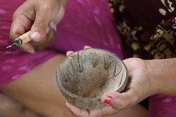 Coconut shell workshop
