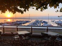 coucher de soleil depuis la terrasse