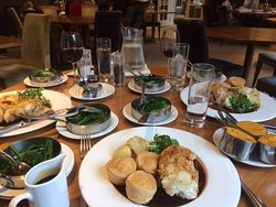 Scrumptious gluten free Sunday lunch. Our journey took just over 4hrs and we so needed this - big thanks to Chef & his team!