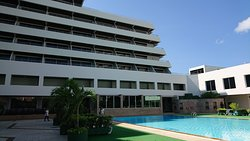Hotel Building and Pool
