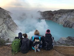 Top of Mt Ijen