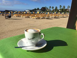 This is the view from the Restaurante Portofino, Amadores Beach, Gran Canaria