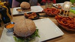 Delicious vegan burgers