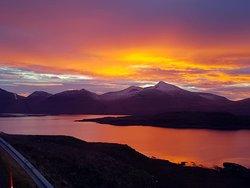 Sunset over Ben More and Loch na Keal 🌄  📸 Colin Morrison  www.visitmullandiona.co.uk