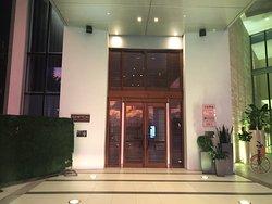 Door into the hotel