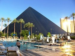 You can't miss the Luxor in Las Vegas. The giant pyramid-shaped resort named for an ancient Egyptian city shines the world's strongest light beam into the sky each night. As happens in history, things change. Since opening in 1993, the 30-story architectural wonder has evolved. The Luxor now has a more contemporary, less ancient Egyptian feel.Details below:  https://www.hotelrates.co/_MVB/package1/a1/m/hotel.php?hid=138&embed=1&aname=Comfortforall