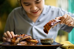 Our soy honey slow roasted ribs, served with a chili plum dipping sauce!