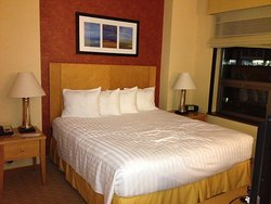 Room with a King-Size Bed and a shower