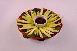 Mangang Hilaw (Green Mango) with bagoong
