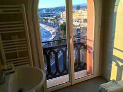 View from my bathroom at the excellent Hotel Suisse