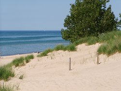 Indiana Dunes National Lakeshore became Indiana Dunes National Park on Feb. 15, 2019. Welcome to our 61st national park! This image is of Lake View Beach. PC: NPS