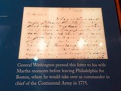 Washington's letter to Martha