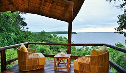 The view from one of our lake view chalet at Nibela