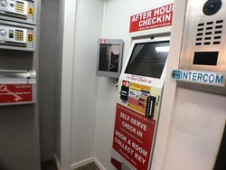 24 Hour Checkin Kiosk - very handy for After Hours Checkins, prebooked rooms or to book a room on arrival.   The checkin Kiosk allows you to collect your keys or book a new room upon arrival.   Very easy and simple to use.