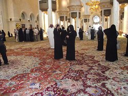 The largest Iran carpet. So beautiful.