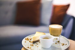 Try our taster menu: cortado & espresso from the same amazing coffee. Best companion for the best cheesecake.