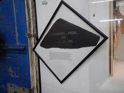 A slate off the roof of Strangeways commenerating the 1990 riot.