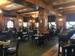 The Tavern is spacious yet cozy, with views of the Salem Common.