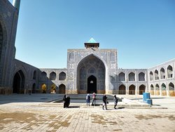 Inner courtyard at Shah Mosque in Isfahan.
