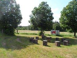 Nachbildung des keltischen Heidegerichts bei Rodenbach