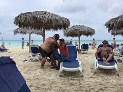 Même le personnel sur la beach était très sympathique.
