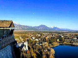 Vista do castelo de Bled