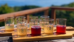 Suttons Bay Ciders..best view of GT Bay