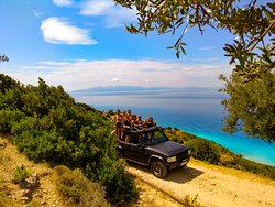 Fantastic landscapes along the way - somewhere around the albanian Riviera