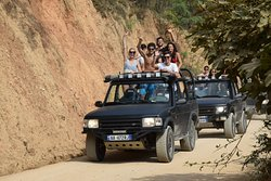 Great fun onboard of our 4x4 Land Rover Jeeps - somewhere around the albanian Riviera
