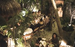Centauro's courtyard is perfect for group reservations or private events.