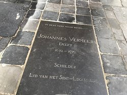 Grave monument of Johannes Vermeer, painter of the Girl with the Pearl Earring