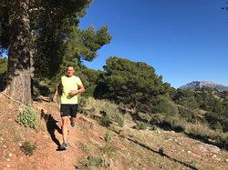 Trailrunning; we can take you to beautiful spots and give you technique tips