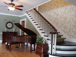 Staircase to guest rooms