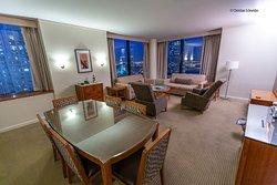 King Luxury suite, Living gigante com vista panorâmica :)