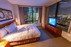 Quarto, vista incrível :)  King Luxury suite
