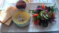 Chicken Liver Pate with pickle & salad