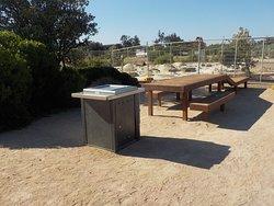 BBQs and picnic table