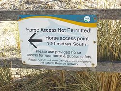 Beach entry point and horse rules